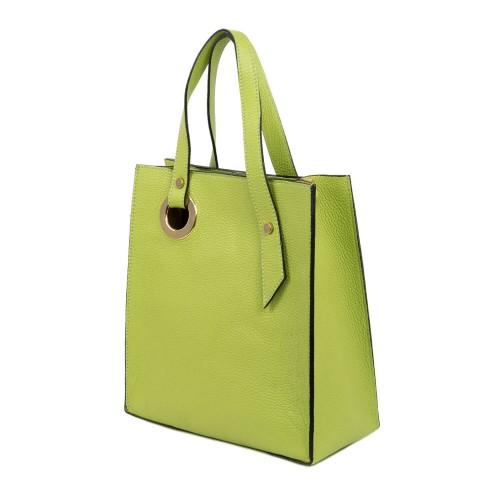 Geanta dama piele verde fistic GF1840