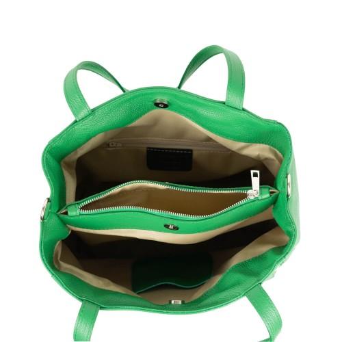 Geanta piele verde GF1854