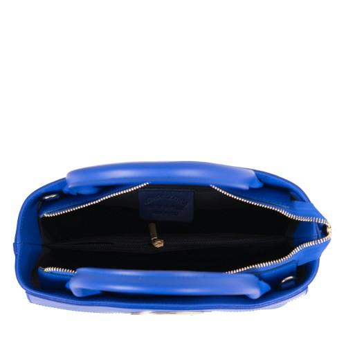 Geanta piele naturala albastra GF1857