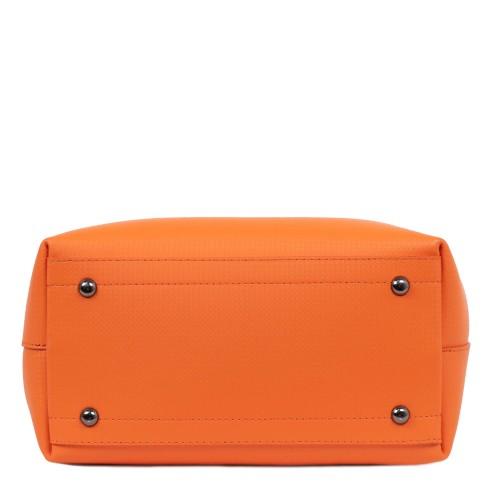 Geanta piele imprimeu portocaliu GF1860