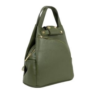 Rucsac tip geanta piele kaki GF1932
