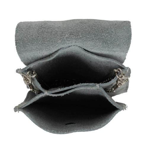 Gentuta mini piele gri deschis GF1957