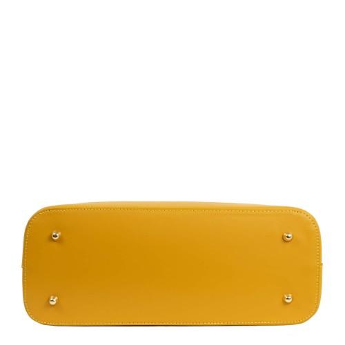 Geanta piele galben mustar multicolor GF1964