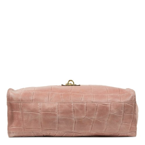 Geanta piele roz cu imprimeu GF1984