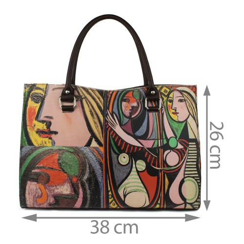 Geanta piele maro inchis Picasso GF200