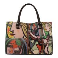 Geanta piele maro inchis Picasso GF200 Genti Femei