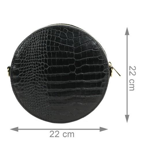 Gentuta piele neagra cu imprimeu GF2037
