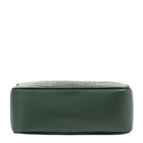 Gentuta piele verde inchis cu imprimeu GF2046