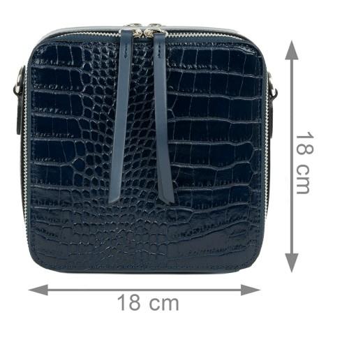 Gentuta piele bleumarin cu imprimeu GF2048