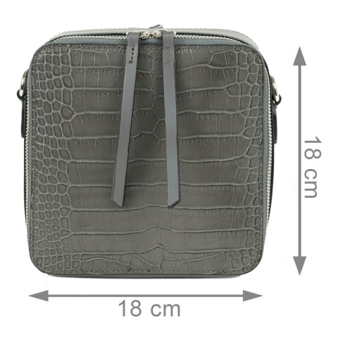 Gentuta piele gri inchis cu imprimeu GF2049