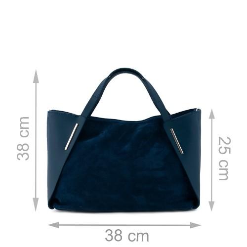 Geanta piele albastra Model GF205 Genti Femei