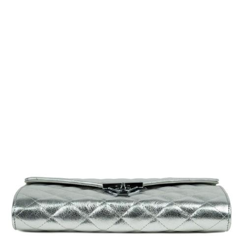 Plic piele matlasat silver GF2052