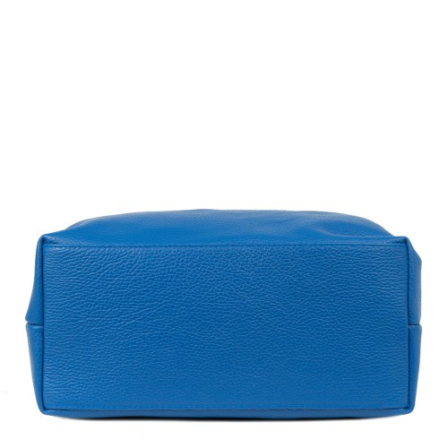 Geanta piele naturala albastra GF2065