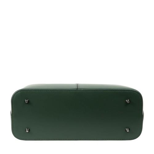 Geanta piele naturala verde inchis GF2100