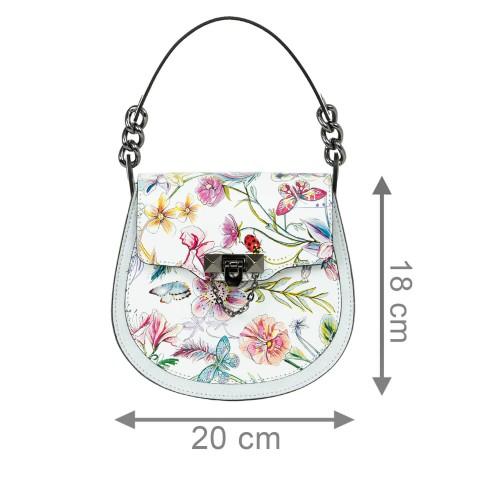 Gentuta piele imprimeu floral mic GF2122