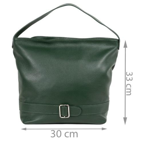 Geanta dama piele verde inchis GF2148