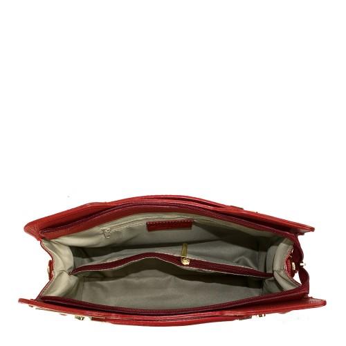 Geanta piele rosie GF215