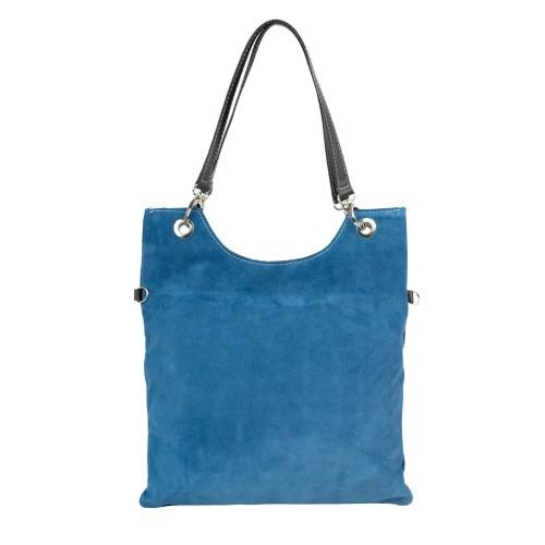 Geanta piele albastra GF2167