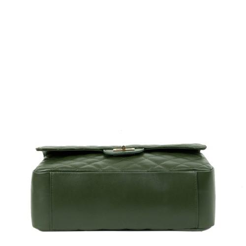 Geanta piele verde inchis GF2178