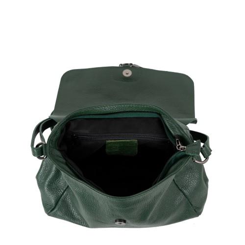 Geanta piele verde inchis GF2185