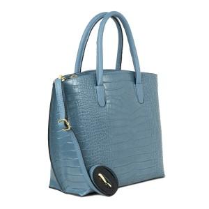 Geanta dama piele albastru prafuit GF2195
