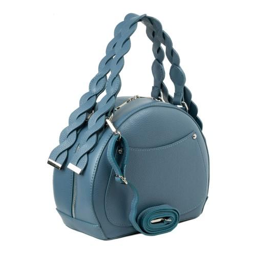 Geanta dama piele albastru prafuit GF2290