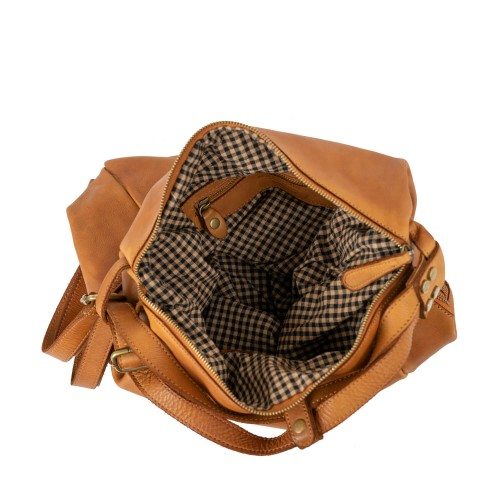 Geanta dama piele maro tip rucsac GF2308