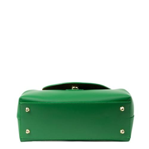 Geanta piele naturala verde GF2335