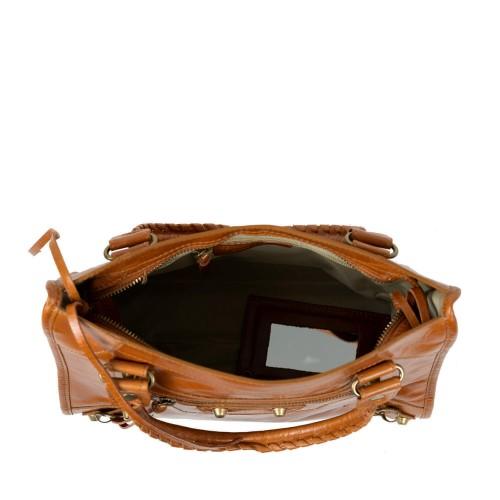 Geanta dama piele maro ciocolatiu GF2344
