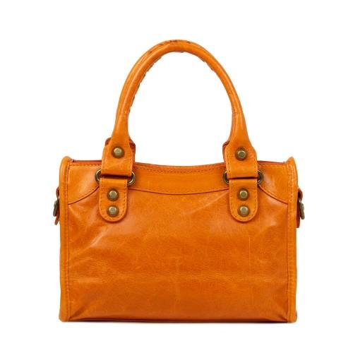 Gentuta dama piele oranj GF2349