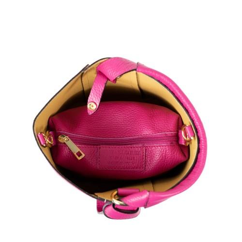 Gentuta dama piele roz inchis GF2358