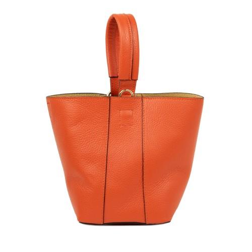 Gentuta dama piele oranj GF2359