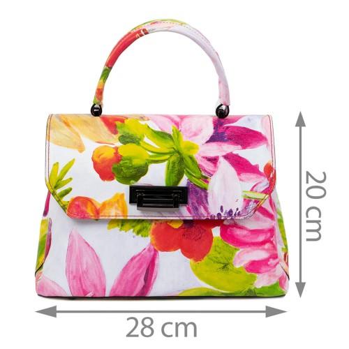 Geanta dama piele imprimeu floral GF2414
