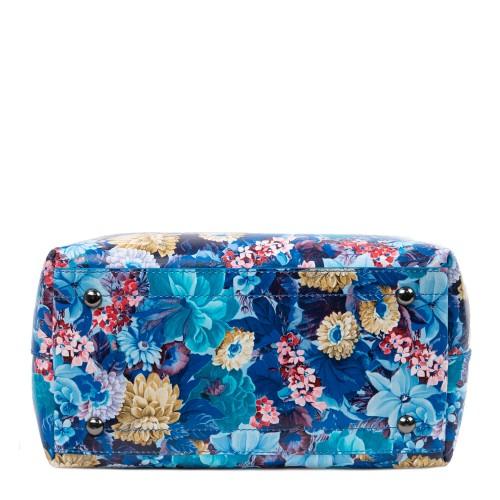 Geanta piele imprimeu floral GF2425