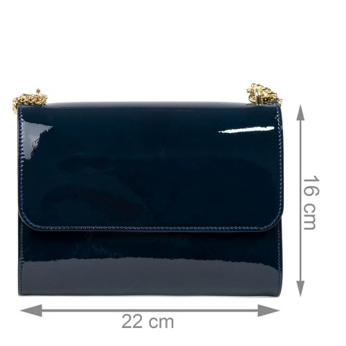 Gentuta dama piele lucioasa albastru inchis GF2432