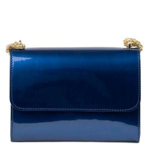 Gentuta dama piele lucioasa albastra GF2433