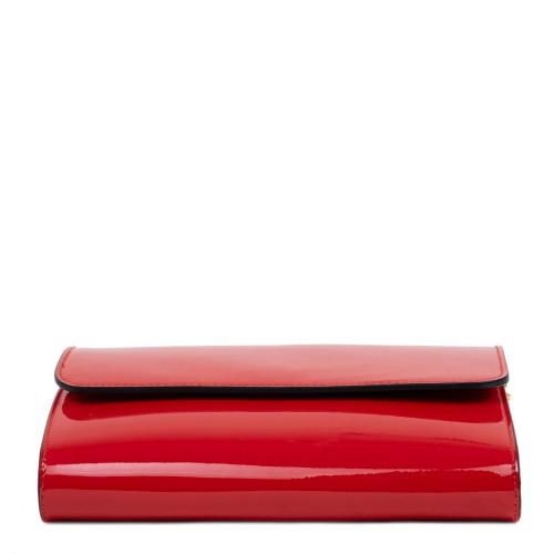 Gentuta dama piele lucioasa rosie GF2435