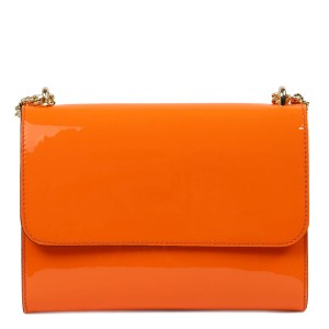 Gentuta dama piele lucioasa oranj GF2436