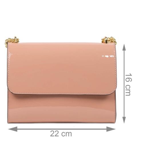 Gentuta dama piele lucioasa roz prafuit GF2437