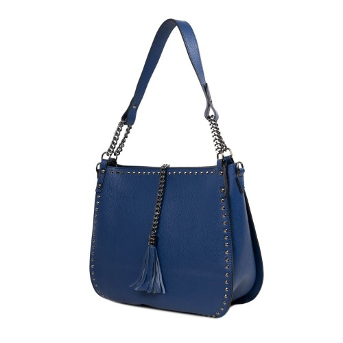 Geanta dama piele albastra GF2447