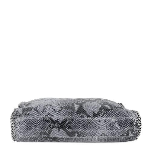 Geanta piele gri plumb cu imprimeu GF249