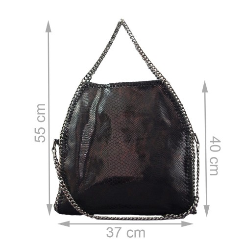 Geanta piele neagra GF250