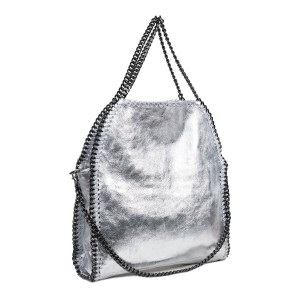 Geanta dama piele argintie GF2532
