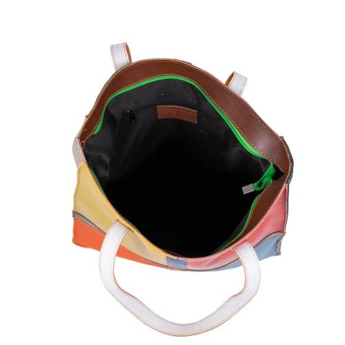 Geanta piele multicolora GF2550