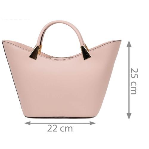 Geanta dama piele roz prafuit GF2611