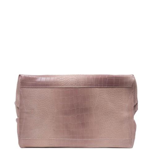 Geanta piele roz prafuit cu imprimeu GF2621