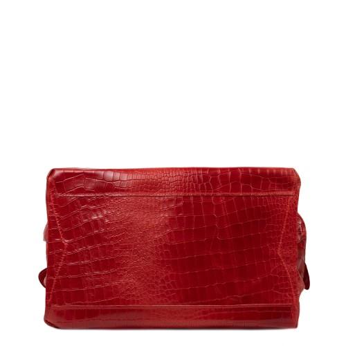 Geanta piele rosu cu imprimeu GF2622