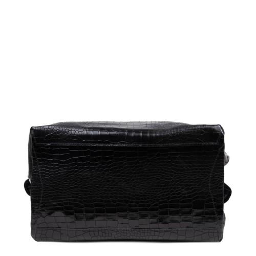 Geanta piele neagra cu imprimeu GF2624