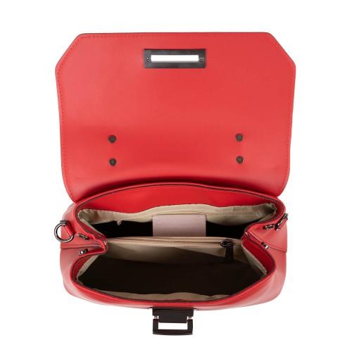 Geanta piele naturala rosie/ paisley GF2636