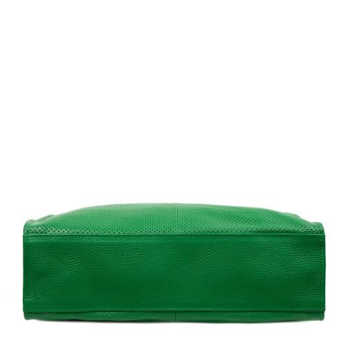 Geanta dama piele verde perforata GF2705